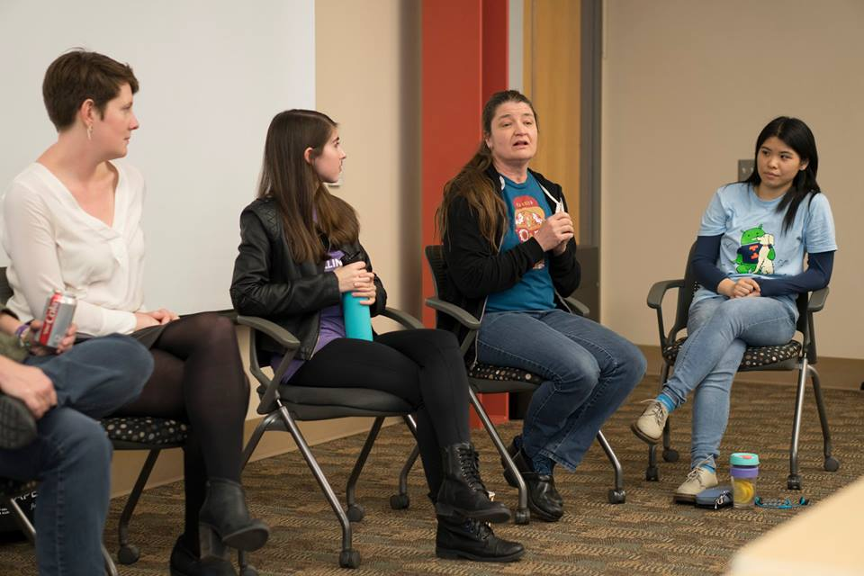 Lively discussion at the women in open source panel